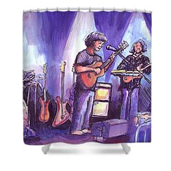 Keller And His Compadres Shower Curtain by David Sockrider