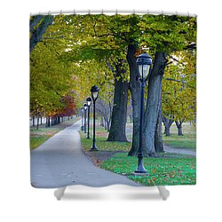 Shower Curtain featuring the photograph Kelly Drive In Autumn by Bill Cannon