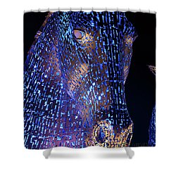 Kelpies Scotland Shower Curtain by Terry Cosgrave