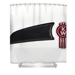 Ken Worth White Tractor 041418 Shower Curtain