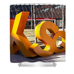Kendall Square Sign Cambridge Ma Shower Curtain