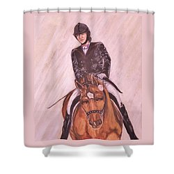 Kendle And Contesse Competing Shower Curtain