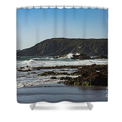 Shower Curtain featuring the photograph Kennack Sands by Brian Roscorla