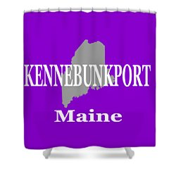 Shower Curtain featuring the photograph Kennebunk Maine State City And Town Pride  by Keith Webber Jr