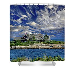 Kennebunkport, Maine - Walker's Point Shower Curtain by Russ Harris