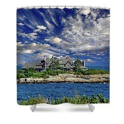 Kennebunkport, Maine - Walker's Point Shower Curtain by Russ Harris