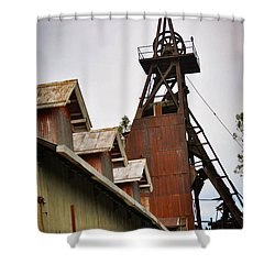Kennedy Mine Headframe Shower Curtain