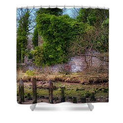 Shower Curtain featuring the photograph Kennetpans Distillery Ruins by Jeremy Lavender Photography