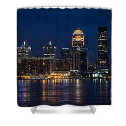 Louisville At Night Shower Curtain