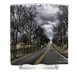 Kentucky Backroads Shower Curtain by Linda Mesibov
