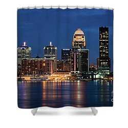 Kentucky Blue Shower Curtain by Andrea Silies