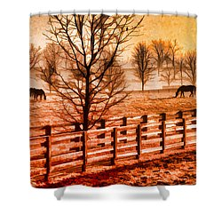 Kentucky Horse Farm  Shower Curtain by Dennis Cox WorldViews