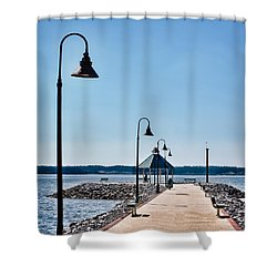 Kentucky Lake Jetty Shower Curtain