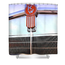 Kenworth Insignia And Grill Shower Curtain