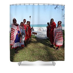 Kenya Wedding On Beach Maasai Bridal Welcome Shower Curtain