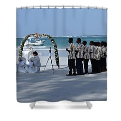 Kenya Wedding On Beach Singers Shower Curtain