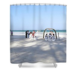 Kenya Wedding On Beach Wide Scene Shower Curtain