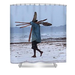 Kenyan Fisherman And Oars Shower Curtain