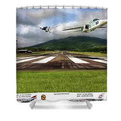 Kep Field Air Show Shower Curtain by Peter Chilelli