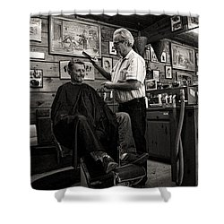 Kernville Barber Shop Shower Curtain