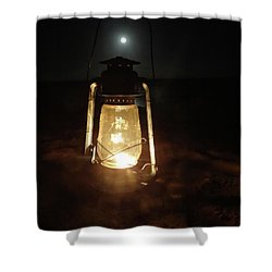 Kerosine Lantern In The Moonlight Shower Curtain