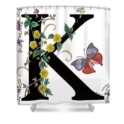 Kerria Japonica And Koh-i-noor Butterfly Shower Curtain by Stanza Widen