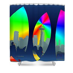 Kerry Needle 3 Shower Curtain by Tim Allen