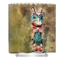 Ketchikan Alaska Totem Pole Shower Curtain