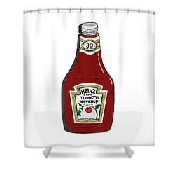 Ketchup Shower Curtain by George Pedro