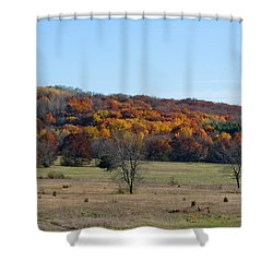 Kettle Morraine In Autumn Shower Curtain