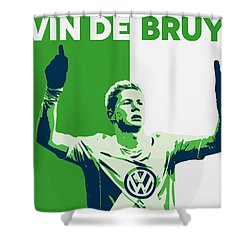 Kevin De Bruyne Shower Curtain