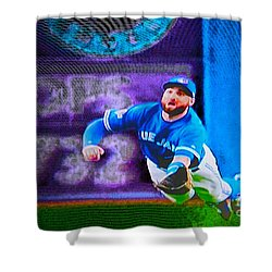 Kevin Pillar In Action II Shower Curtain