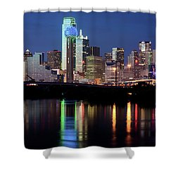 Jerry's Dallas Skyline Shower Curtain