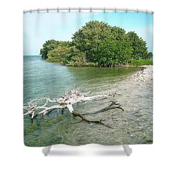 Key Largo Out Island Shower Curtain