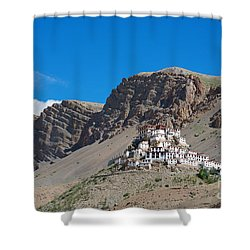 Shower Curtain featuring the photograph Key Monastery by Yew Kwang