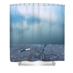 Key On The Lake Shore Shower Curtain