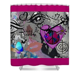 Key To Energy Of Peace  Shower Curtain