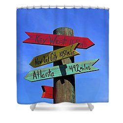 Key West 165 Miles Shower Curtain