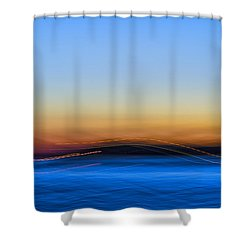 Key West Abstract Shower Curtain