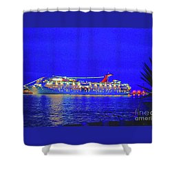 Key West Cruising  Shower Curtain