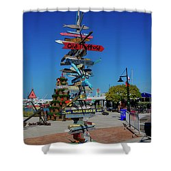 Key West Destination Sign Shower Curtain
