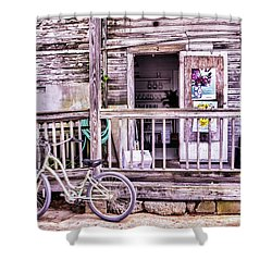 Key West Flower Shop Shower Curtain