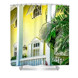 Shower Curtain featuring the photograph Key West Homes 15 by Julie Palencia