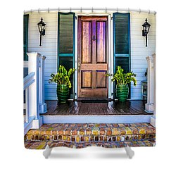 Key West Homes 16 Shower Curtain by Julie Palencia