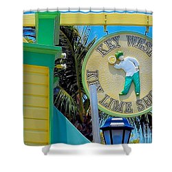 Key West Key Lime Shoppe Shower Curtain