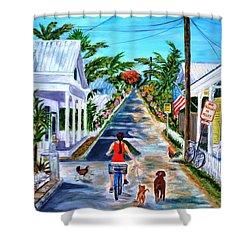 Key West Lane Shower Curtain