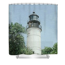 Key West Lighthouse Shower Curtain