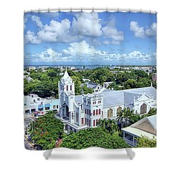Shower Curtain featuring the photograph Key West by Olga Hamilton
