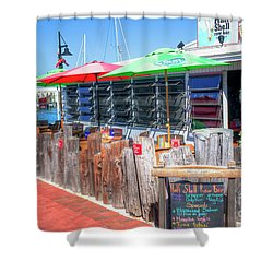 Key West Raw Bar Shower Curtain