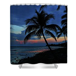 Key West Sunset No 1 Shower Curtain by Ron Grafe